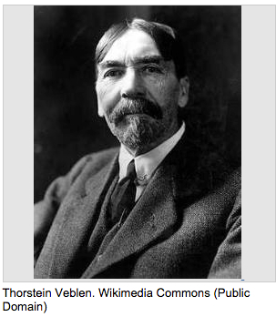 Thorstein Veblen explained the conspicuous consumption of a status symbol that displays affluence.
