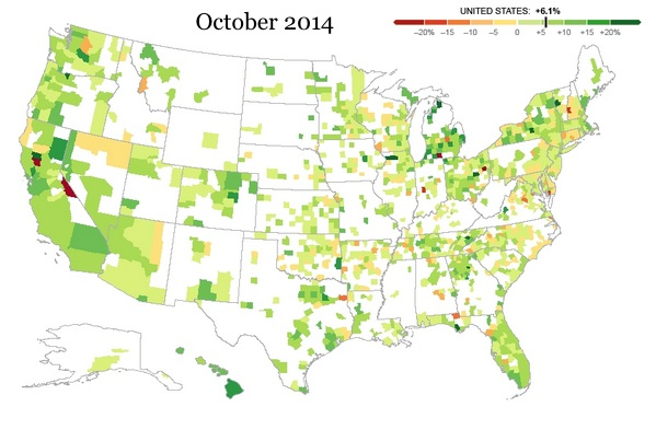 Great recession home prices 2014