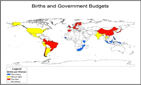 Optimal birth rates and federal budgets