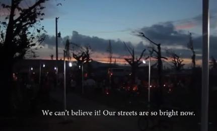 Solar bottle street lights increase human capital.