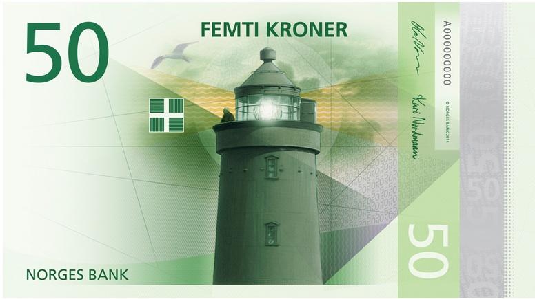 Money Supply Norway front 50 kroner