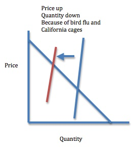 Supply elasticity and egg prices