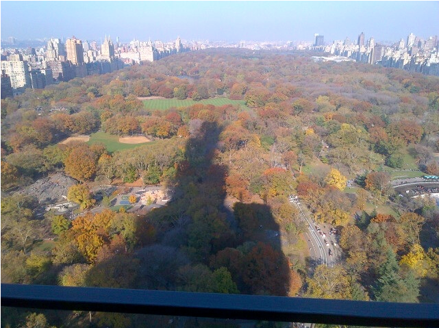 Shadow over Central Park from a NYC building