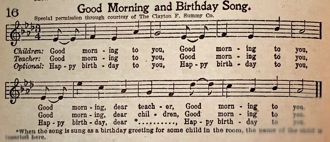 Happy Birthday song as intellectual property
